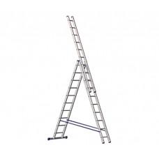 Алюминиевая трехсекционная лестница стремянка Dogrular 4310 - 3x10
