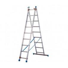 Алюминиевая двухсекционная лестница-стремянка Dogrular 4209 - 2x9