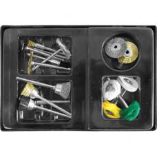 Набор корщетки/шарошки в чемоданчике (17 шт.) FIT IT 36491