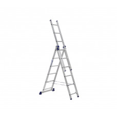 Алюминиевая трехсекционная лестница стремянка Dogrular 4306 - 3x6