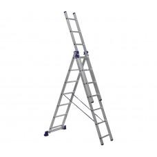 Алюминиевая трехсекционная лестница стремянка Dogrular 4307 - 3x7