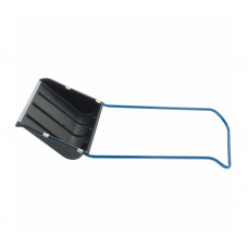 Скребок Движок для снега Сибртех 61592 600х470 мм, пластиковый с алюм. планкой, П-образная ручка