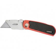 Нож 18мм Matrix 78900 складной трапецевидное лезвие, 10 запасных лезвий