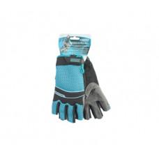 Перчатки Gross 90316 комбинированные облегченные, открытые пальцы AKTIV, L