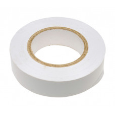 Изолента ПВХ, 19 мм х 20 м, 180 мкм, белая Сибртех 88798