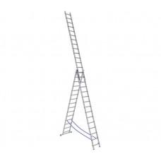 Алюминиевая трехсекционная лестница стремянка Dogrular 4317 - 3x17