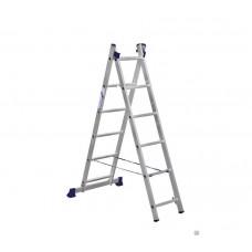 Алюминиевая двухсекционная лестница-стремянка Dogrular 4206 - 2x6
