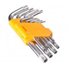 Набор ключей TORX-профиль Ермак 657023 (50х3мм-125х9мм, 9 предметов)