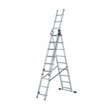 Алюминиевая трехсекционная лестница стремянка Dogrular 4309 - 3x9