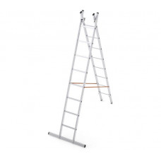 Алюминиевая двухсекционная лестница-стремянка Dogrular 4208 - 2x8