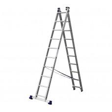 Алюминиевая двухсекционная лестница-стремянка Dogrular 4210 - 2x10