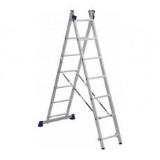 Алюминиевая двухсекционная лестница-стремянка Dogrular 4207 - 2x7