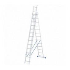 Алюминиевая трехсекционная лестница стремянка Dogrular 4313 - 3x13