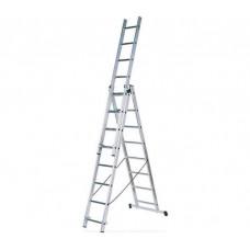 Алюминиевая трехсекционная лестница стремянка Dogrular 4308 - 3x8