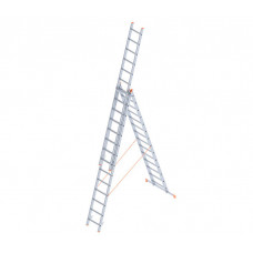 Алюминиевая трехсекционная лестница стремянка Dogrular 4314 - 3x14