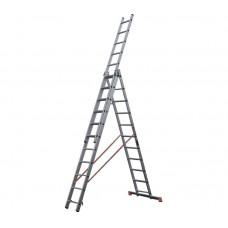 Алюминиевая трехсекционная лестница стремянка Dogrular 4312 - 3x12